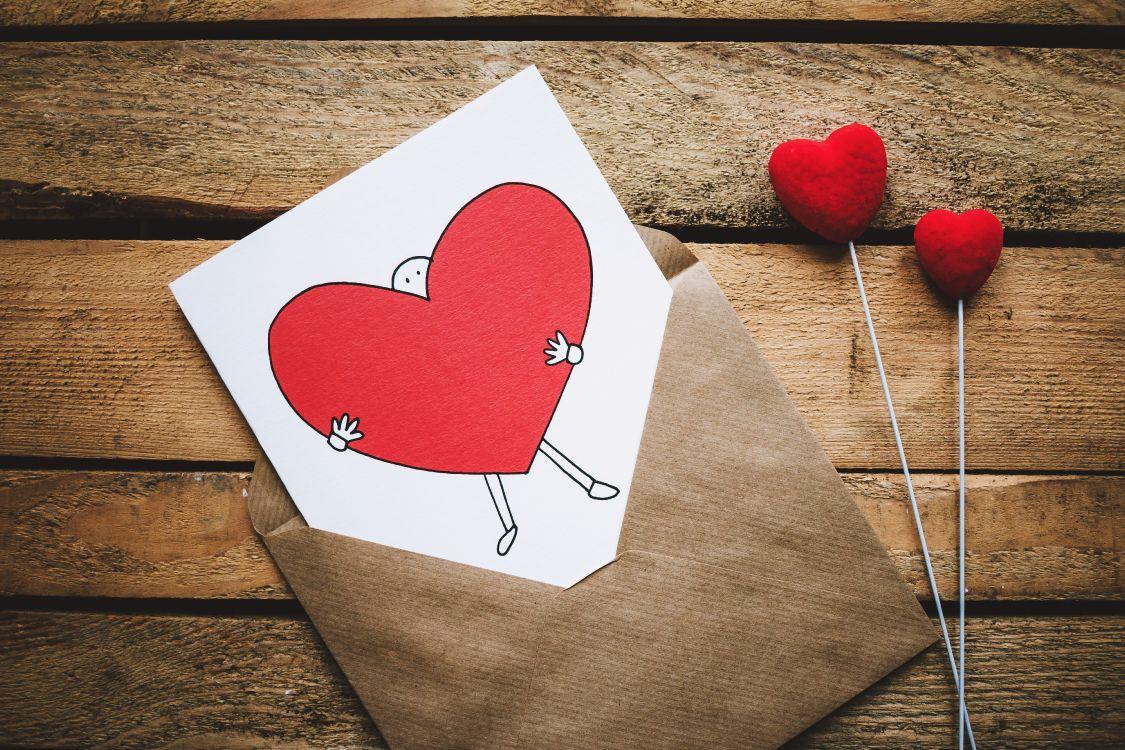 Обои чувство, сердце, любовь, иллюстрация, бумага в разрешении 5126x3417
