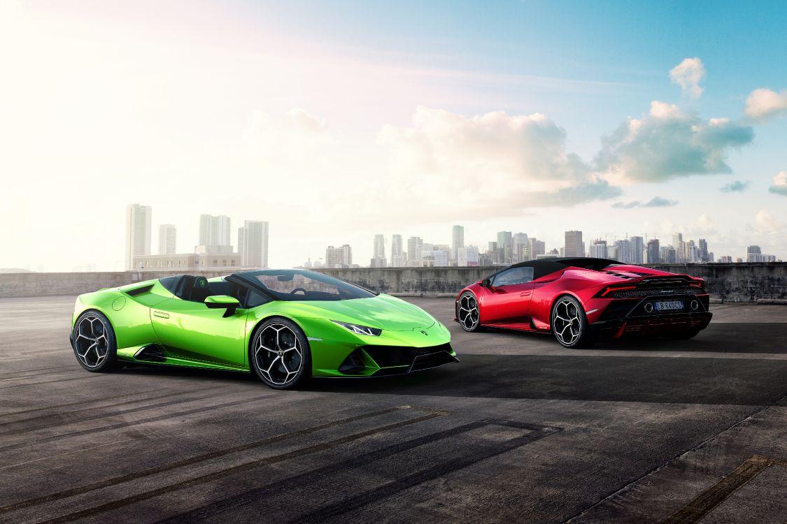 Обои небо, спорткар, суперкар, Ламборджини, гоночный автомобиль в разрешении 5315x3543