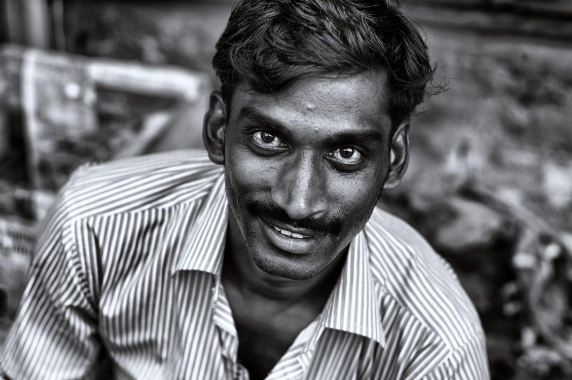 Обои глаз, улыбка, монохромный, крупный план, орган в разрешении 4912x3264