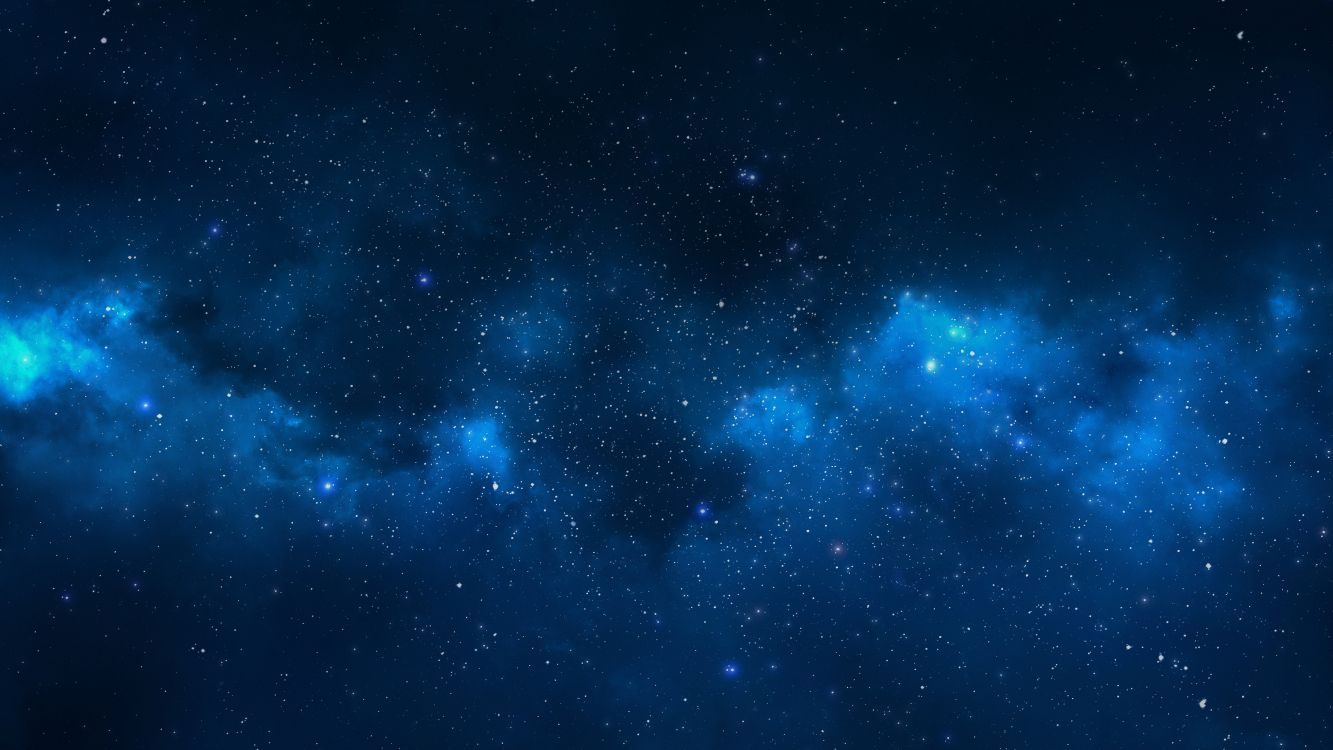 Обои ночное небо, синий, космическое пространство, звезда, облако в разрешении 7680x4320