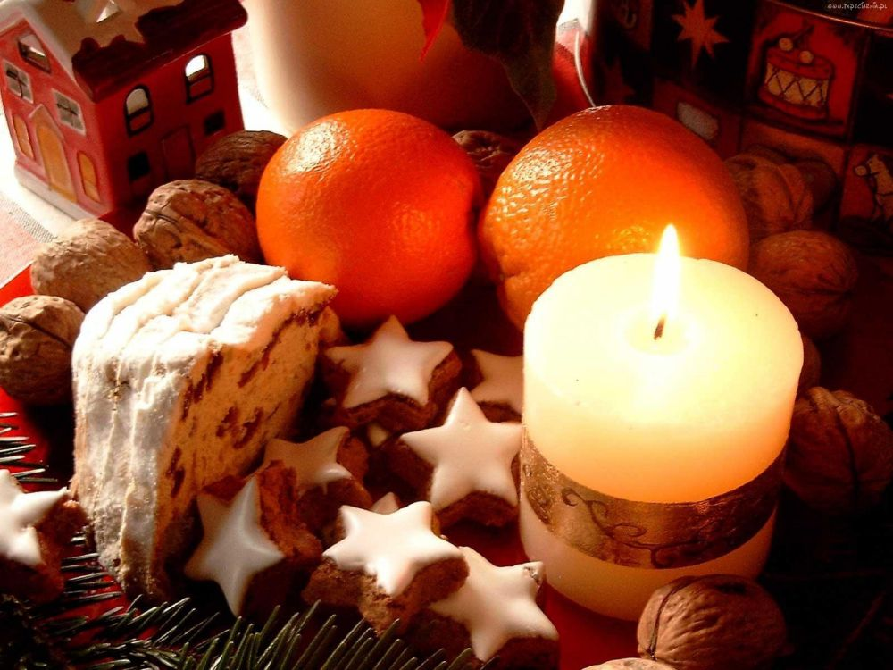 Обои венок, кухня, рождественский орнамент, Рождественский день, елка в разрешении 3200x2400